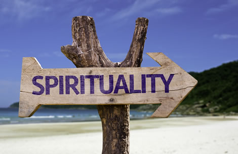 Image of a sign saying spirituality