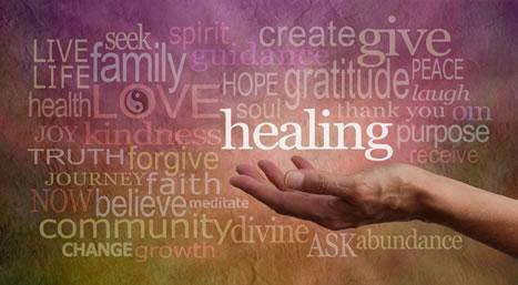 Long list of healing words