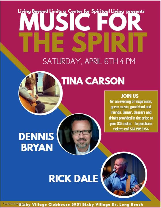 Music for the Spirit Event Flyer